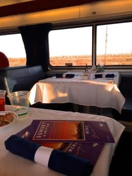 First breakfast on train