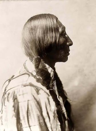 Bear Black, a Cheyenne Brave. Photo taken in 1905 by Edward S. Curtis.