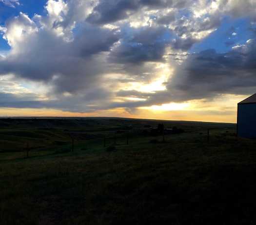 Dawn in the high desert country near Cheyenne, Wyoming.