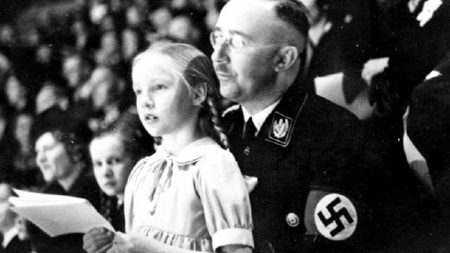 Heinrich Himmler with daughter Gudrun